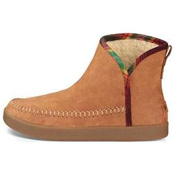 Sanuk Women's Nice Bootah Lx Ankle Bootie, Tobacco/Vintage R