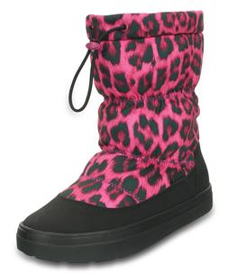 NWT CROCS Lodgepoint Berry Women's Winter Pull-On Snow Boots