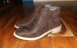 NWT Womens Seven Brown Suede Bootie Ankle Boots Size 8