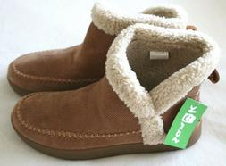 NWT! Sanuk Womens Nice Bootah Corduroy Faux Shearling Boots