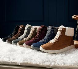 Skechers On the Go Water Resistant Suede Boots Winter Chill