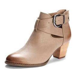 Vionic with Orthaheel Rory Women's Boot, Taupe, Size 10.0