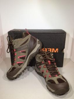 MERRELL OUTMOST MID VENT WOMEN'S Size 8 Canteen Brown Hiking