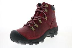 Keen Pyrenees 1023976 Womens Red Leather Lace Up Hiking Boot