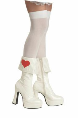 Rebel Toons Alice In Wonderland Boots Womens Sz Small 5-6, N