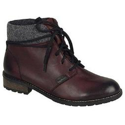 Remonte by Rieker Women's R3332-36 Comfort Boots - Red Combi