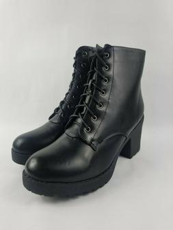 Refresh Shoes Club-02 Women's Size 10 Lace Up Side Zip Chunk