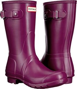 Hunter Womens Original Short Violet Rain Boot - 8 B US