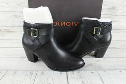 Vionic Size 11 Women's Upright Trinity Ankle Boot Black Boot