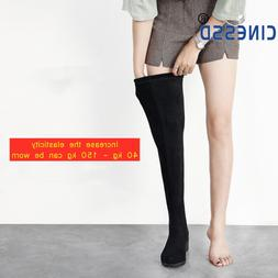 CINESSD Size 44 Thigh High <font><b>Boots</b></font> For <fo