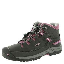 KEEN Targhee Mid WP Shoe - Girls' Raven/Tulipwood, 6.0