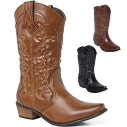 US Free Ship New SheSole Womens Western Cowboy Boots Country