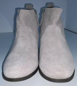 """Vionic """"Vera"""" Gray Suede Leather Bootie Orthro construction"""