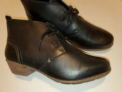 """Clarks """"Wilrose Sage"""" Boots Ankle Bootie BLACK Leather WOMEN"""