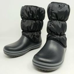 Crocs Winter Puff Boot Black Charcoal Relaxed Fit Comfort Sh