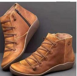 Women Autumn Arch Support Boots Multi Colors Hot Flat Heel B