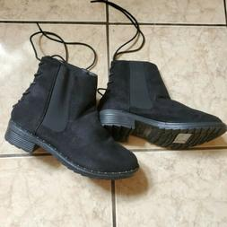 women s ankle boots black w laces