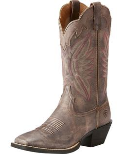 Ariat Women's Chocolate Round Up Outfitter Tack Room Boot Sq