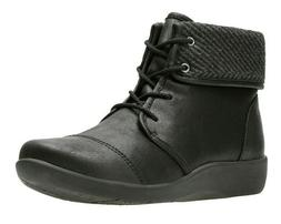 """Clarks Women's Cloudsteppers """"Sillian Frey"""" Ankle Boots Blac"""