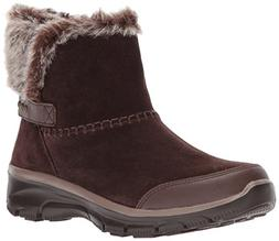 Skechers Women's Easy Going-Quantum Ankle Bootie,Chocolate,5