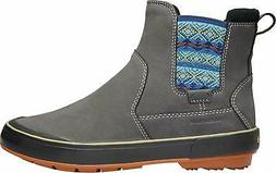 Keen Women's Elsa II Chelsea Waterproof Lace-Up Boots Steel