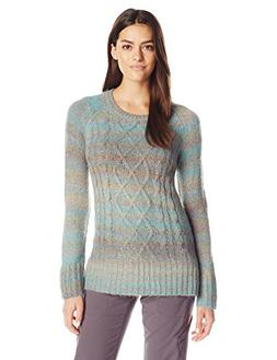 prAna Women's Leisel Sweater, Small, Harbor Blue