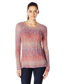 prAna Women's Leisel Sweater, X-Large, Deep Marsala