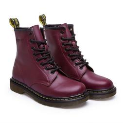 Women's Martin Combat Boots Lace-Up Casual Antiskid Leather