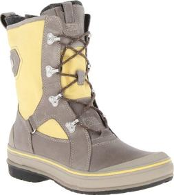 Clarks Women's Muckers Squall Boot,Grey/Yellow,6.5 M US