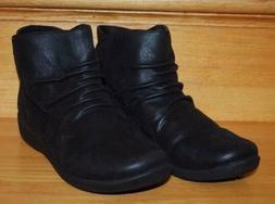 Clarks Women's Sillian Tana Black Synthetique Ankle Boot Boo