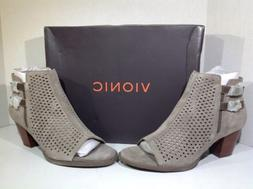 Vionic Women's Size 8.5 Aloft Chryssa Gray Suede Perforated