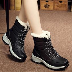 women s snow boots lace up winter
