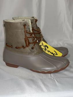Seven7 Women's Speyside Duck Waterproof Two-Tone Boots Taupe