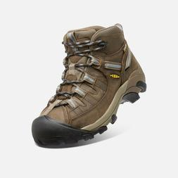KEEN Women's Targhee II Mid Waterproof Hiking Boot Slate Bla