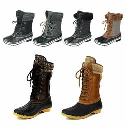 Women's Waterproof Rubber Skimmers Duck Boots Winter Rain Sn