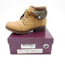 Women's Refresh WYNNE-01 Combat Style lace up Ankle Boot