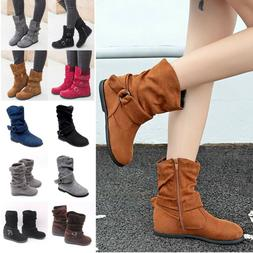 Women's Boots Slouch Below Knee The High New Faux Suede Fl