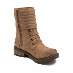 Womens Roxy Emery B Boots in Taupe Mid Calf Combat Choose Yo
