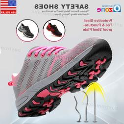 Womens Fashion Safety Steel Toe Work Boots Breathable Hiking