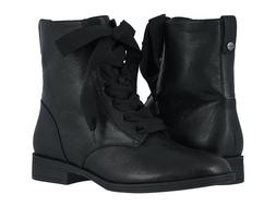 Womens Vionic Holden Jayce Ribbon Lace Up Boots - Black Leat