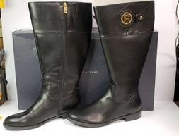 Tommy Hilfiger WOMENS IVERSIN Black Knee High Riding Boots S