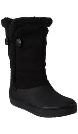 Crocs Womens Modessa Synthetic Suede Button Boot Shoes