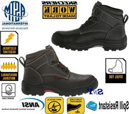 WOMENS Steel Toe Work Boots Puncture Resistant ASTM EH Leath