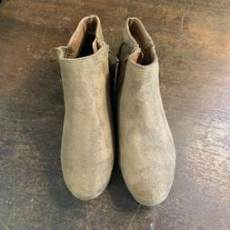 womens tan camel ankle boots booties size